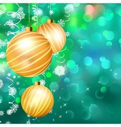 Christmas bokeh background with baubles EPS 10 vector image