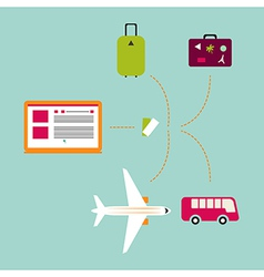 Online travel vector