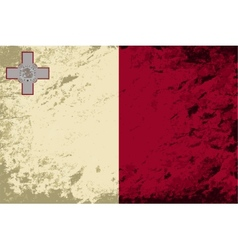 Maltese flag grunge background vector