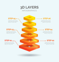 3d layers infographics 06 vector
