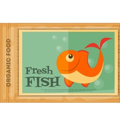 poster fish vector image