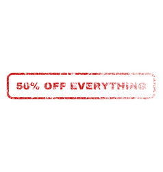 50 percent off everything rubber stamp vector image vector image