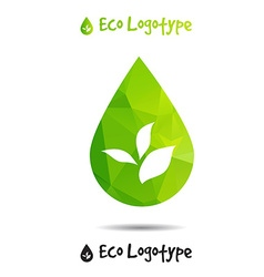 Ecology logo or icon in eps nature logotype drop vector