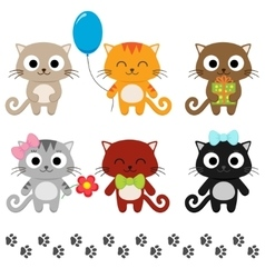 Cartoon kittens vector image