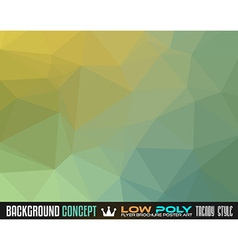 Low poly art background for your polygonal flyer vector