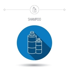 Shampoo bottles icon liquid soap sign vector