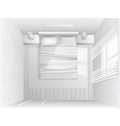 Top view bedroom vector
