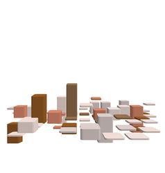abstract 3d checked vector image