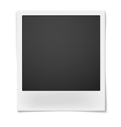 Retro instant photo frame isolated on white vector