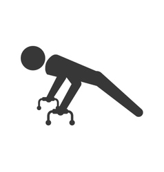 Pictogram doing push up icon healthy lifestyle vector