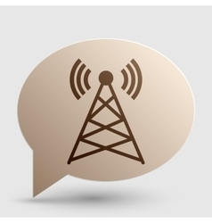 Antenna sign Brown gradient icon on vector image vector image