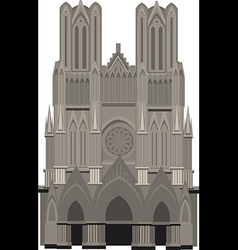 Cathedral of notre dame paris vector