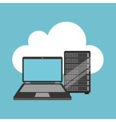 Cloud laptop data server vector