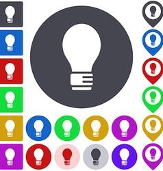 Color light bulb icon set vector image