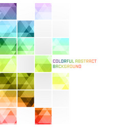 colorful abstract background square mosaic pattern vector image vector image
