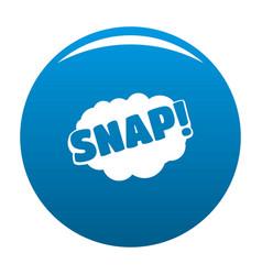 Comic boom snap icon blue vector