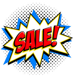 comics style sale tag red sale web banner pop vector image vector image