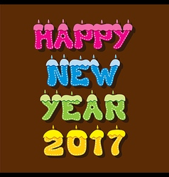 Creative happy New Year 2017 Greeting design vector image