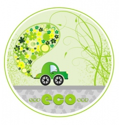 eco car illustration vector image