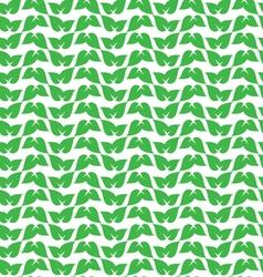 green leaf pattern vector image