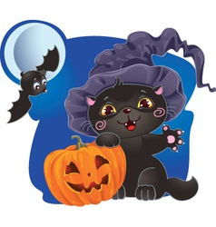halloween cat design vector image vector image