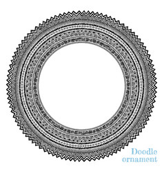 hand drawn round ornament vector image