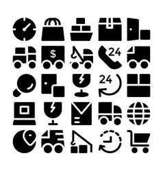 Logistics delivery icons 7 vector