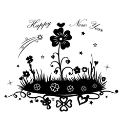 Meadow with clover vector image