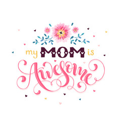 Mother day greeting card vector