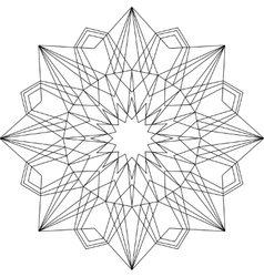 Outline mandala geometric ornament vector image vector image