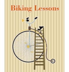 Poster with vintage bicycle vector