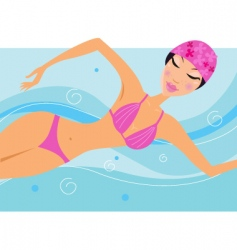 sexy swimmer vector image