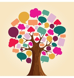 Social media network communication tree vector image vector image