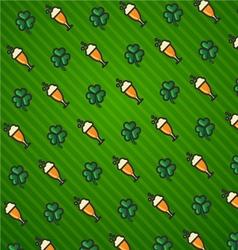 St Patricks Day Green background icon set trefoil vector image vector image