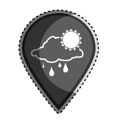 sticker monochrome mark icon pointer gps with vector image