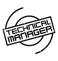 Technical manager rubber stamp vector