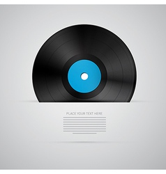 Vinyl record disc isolated on grey background vector