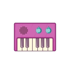 Synth icon cartoon style vector