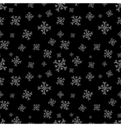 Snowflakes seamless pattern black christmas vector
