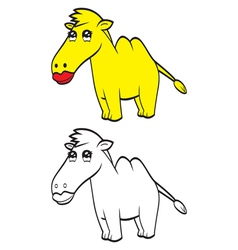 Cute cartoon camel vector image