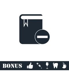 Book minus icon flat vector image