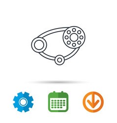 timing belt icon generator strap sign vector image