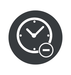 Monochrome round reduce time icon vector