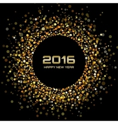 Gold Bright New Year 2016 Background vector image