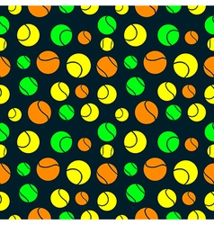 Seamless pattern with elements of tennis balls vector