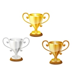 Trophy set vector