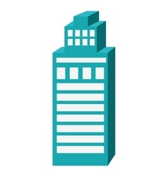 Blue tall building graphic vector