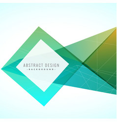 Abstract creative background with geometric design vector