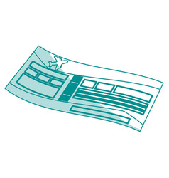 airplane ticket design vector image