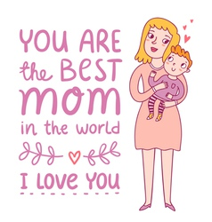 Best mom vector image